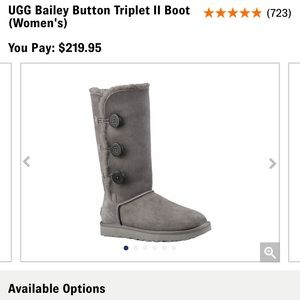 Ugg boots! Grey size 8